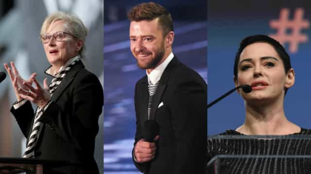 McGowan questiona apoio de Streep e Timberlake a #MeToo e Time's Up