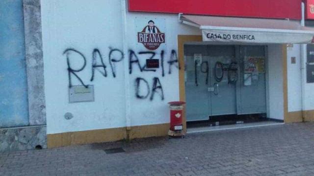 Casa do Benfica em Vendas Novas foi vandalizada