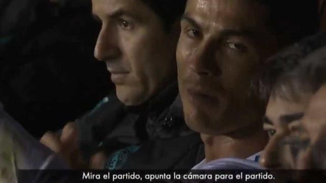 Ronaldo chateou-se com a câmara após ser substituído