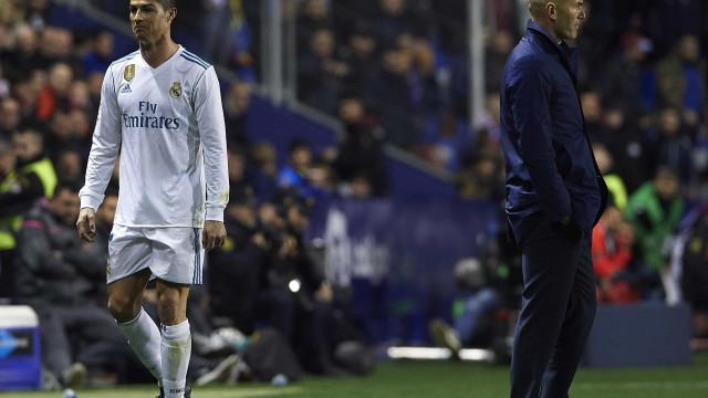 Atitudes de Cristiano Ronaldo provocam tensão no balneário do Real Madrid