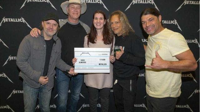 Metallica voltam a surpreender com doação ao Banco Alimentar