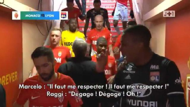 Monaco-Lyon: Ânimos exaltados no túnel após o apito final