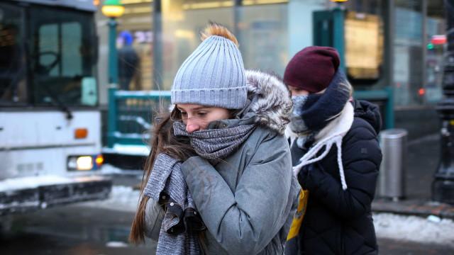 Temperaturas mínimas colocam dois distritos sob aviso amarelo