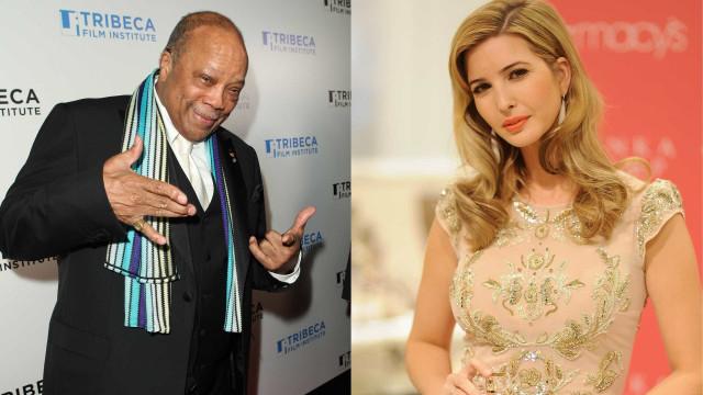 """Quincy Jones sobre Ivanka Trump: """"Tinha as pernas mais bonitas que já vi"""""""