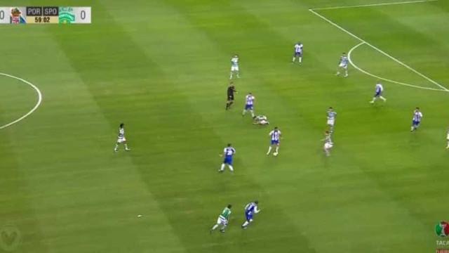 Cruzamento teleguiado de Sérgio Oliveira termina em golo de Soares