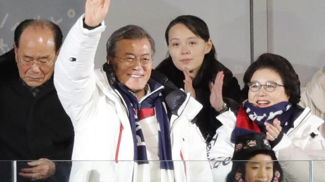 Coreias juntas na abertura dos Jogos. Por agora, venha o desporto