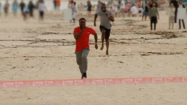 Ator de Hollywood ganhou a Bolt numa corrida de 100 metros