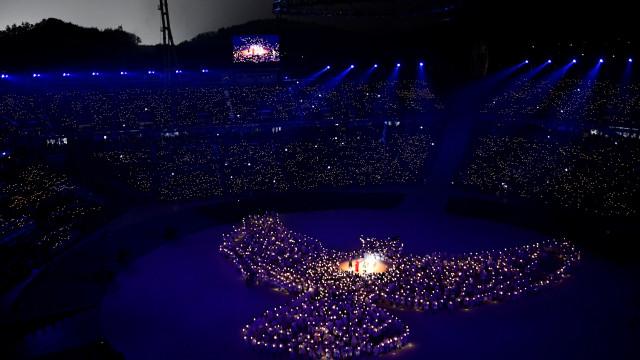 Mais de 1200 drones deram luz a cerimónia de abertura de PyeongChang2018