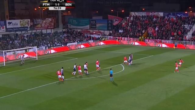 Cervi bisou e colocou o Benfica a vencer com este golaço