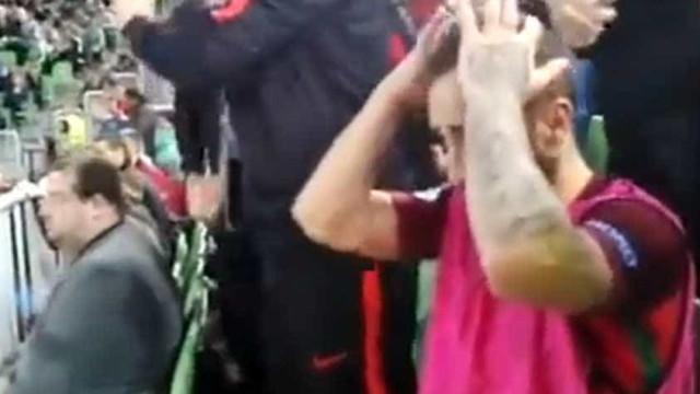 O vídeo da (brutal) ansiedade de Ricardinho antes de vencer o Euro'2018
