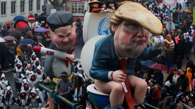 """O Carnaval português que """"goza com Putin, Trump e Kim"""" é notícia lá fora"""