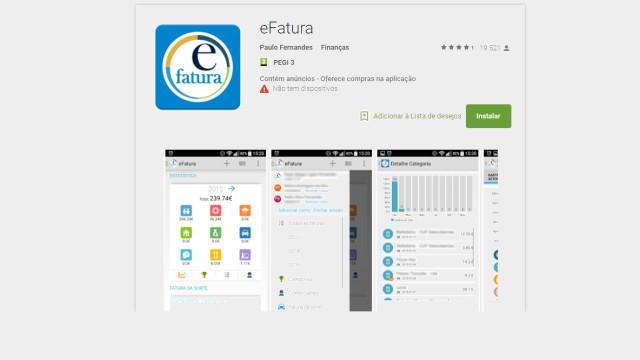 """App eFatura não é oficial e acede a dados privados. """"Onde está o sigilo?"""""""