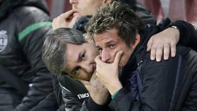 Coentrão em lágrimas foi consolado por Bruno de Carvalho