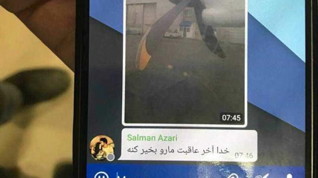 Divulgada última imagem tirada por passageiro de avião despenhado no Irão