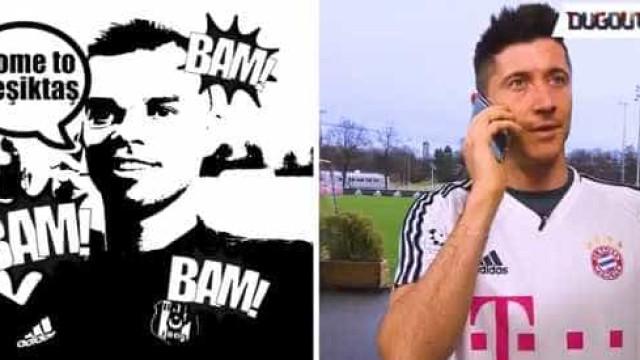Besiktas e Bayern aquecem duelo com telefonema de Pepe a Lewandowski