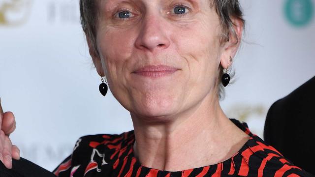 BAFTA: Sem aderir ao preto, Frances McDormand fala da sua escolha