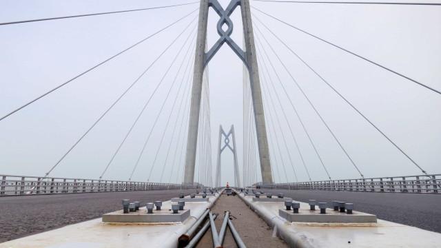 Ponte Hong Kong-Zhuhai-Macau pode suportar sismos e super tufões