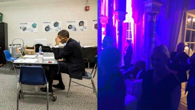 Obama e Trump, dois tiroteios, duas imagens. Internet compara reações