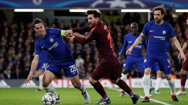 [1-0] Chelsea-Barcelona: Willian inaugura o marcador!