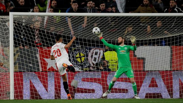 Sevilha e United não vão além de um nulo e adiam decisão para a 2.ª mão