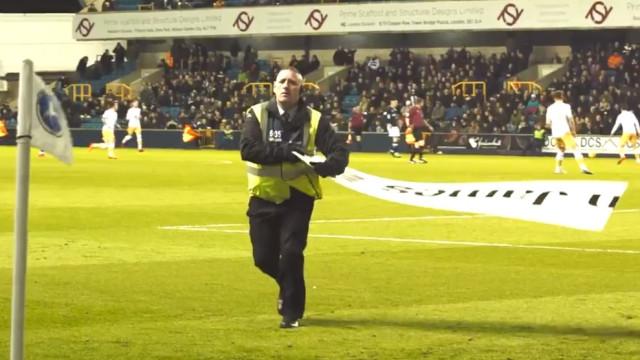 Quando um dos seguranças do Millwall vira 'ator principal' do encontro