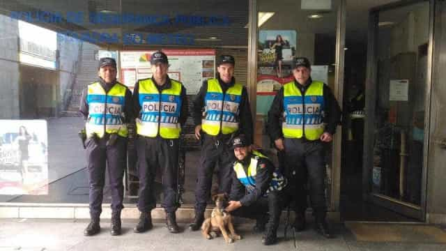 PSP resgata cachorro preso a caixote do lixo no metro de Lisboa