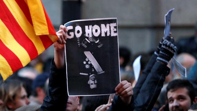 Cinco feridos e um detido em protestos contra visita do rei Felipe VI