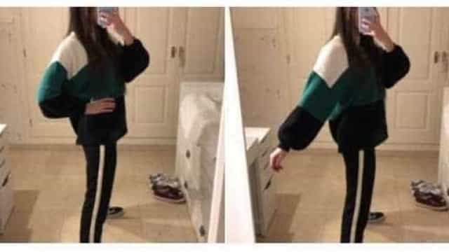 A nova foto viral nas redes sociais. Vê uma ou duas pernas?