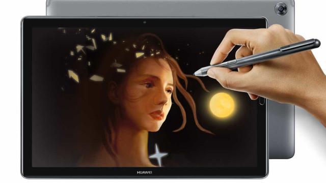 A Huawei apresentou um novo tablet e o ecrã vai impressioná-lo