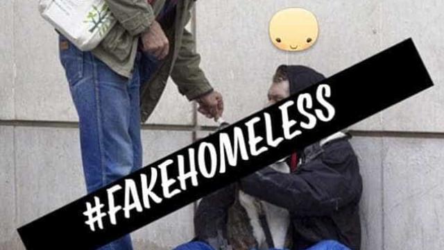 Falsos pedintes de cidade britânica desmascarados na internet