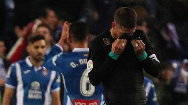 Real Madrid: Derrota e 'bronca' de Sergio Ramos a colega no balneário