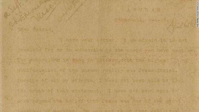 Carta de Gandhi a elogiar Jesus vai a leilão por quase 41 mil euros
