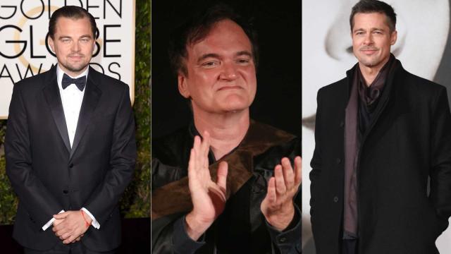 Trio de ouro! Brad Pitt e Leonardo DiCaprio juntos num filme de Tarantino