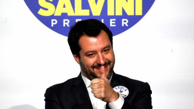 """Polónia e Itália vão liderar """"nova primavera europeia"""", declara Salvini"""