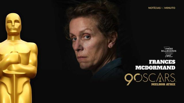 Frances McDormand ganha o Óscar de Melhor Atriz
