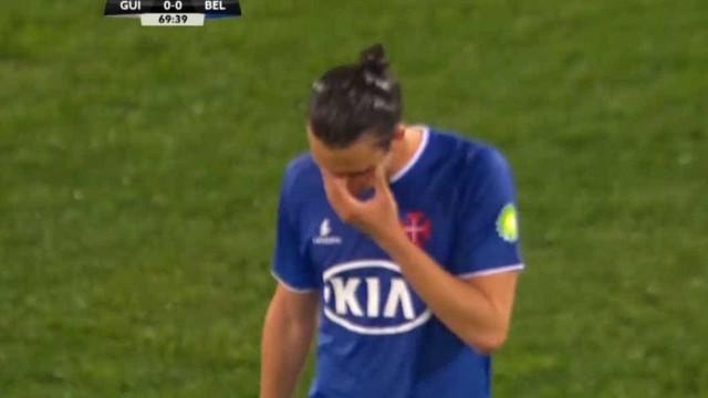 Bakic saiu lavado em lágrimas no Vitória-Belenenses