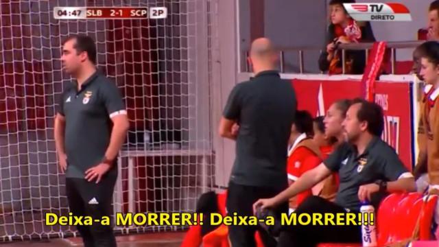 "Adeptos do Benfica cantam para jogadora do Sporting: ""Deixa-a morrer"""