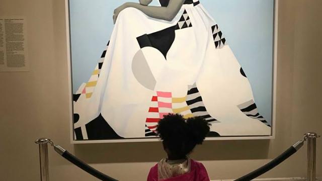 Michelle Obama conheceu menina que ficou admirada com o seu quadro