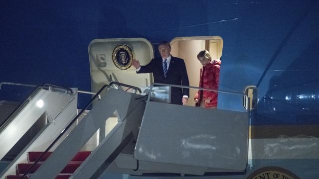 Custos de viagem de Trump pagavam três meses de ajuda a Porto Rico
