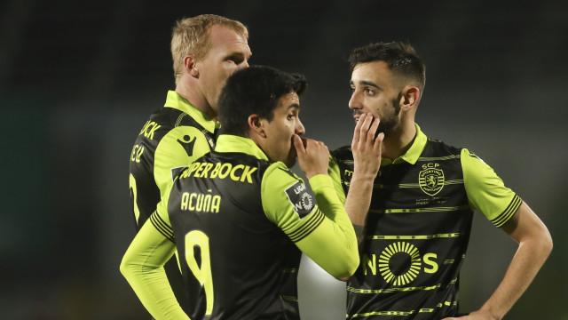 B. Fernandes e Acuña: Leões vão entrar em Chaves... sem metade dos golos