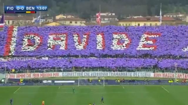 Fiorentina-Benevento 'parou' para incrível homenagem a Davide Astori
