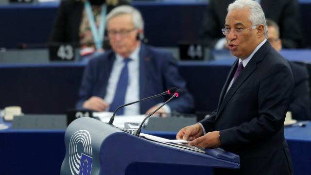 Críticas de PSD e CDS 'aquecem' debate com António Costa em Estrasburgo