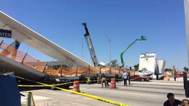 Já tinham caído pontes das duas empresas que construíram ponte de Miami