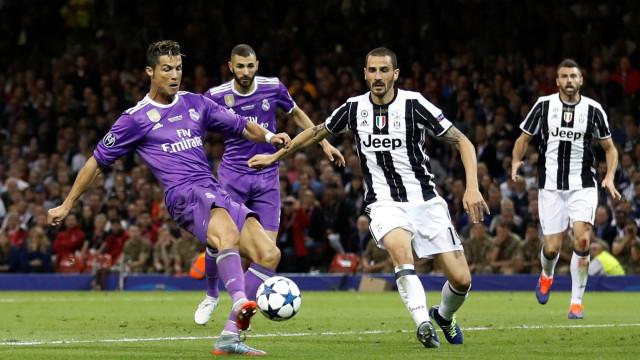 Real Madrid reencontra Juventus nos 'quartos' da Champions