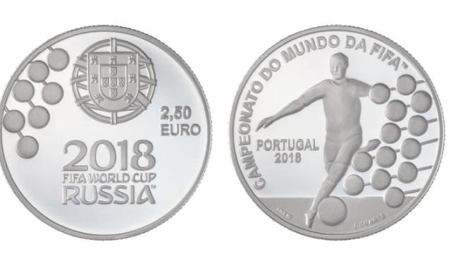 Banco de Portugal coloca em circulação moeda do Campeonato do Mundo