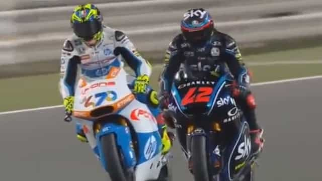 Com Miguel Oliveira fora do pódio, Moto2 teve um final incrível