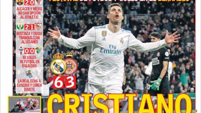 Imprensa internacional rendida a Ronaldo e André Silva