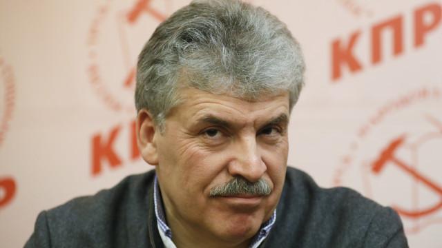 """Grudinin reconhece vitória de Putin mas critica """"eleições desonestas"""""""