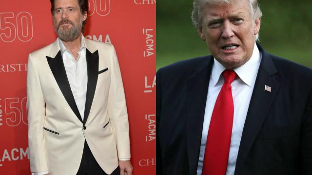 Nova pintura de Jim Carrey 'arrasa' Donald Trump