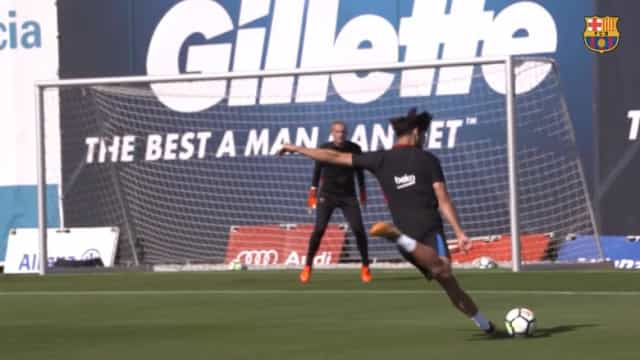 Ao detalhe: Barcelona mostra como treina André Gomes